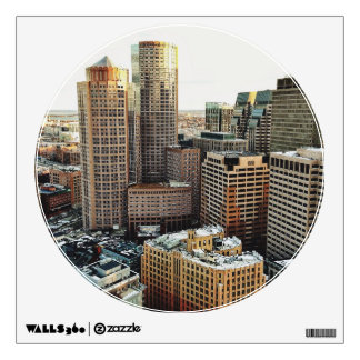 Boston view wall decal
