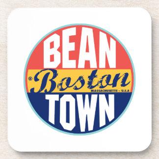 Boston Vintage Label Drink Coaster
