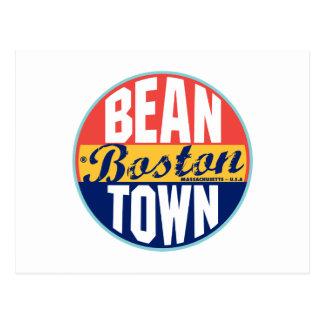 Boston Vintage Label Postcard