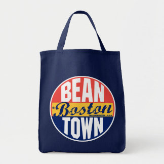 Boston Vintage Label Tote Bag