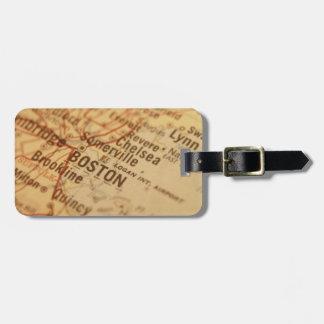 BOSTON Vintage Map Bag Tag
