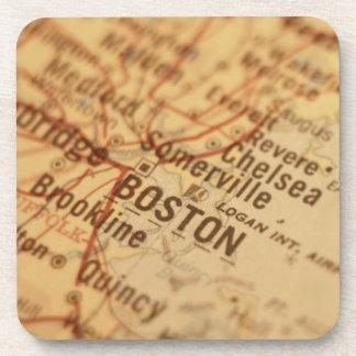 BOSTON Vintage Map Coaster