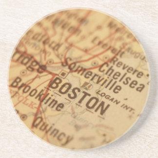 BOSTON Vintage Map Drink Coaster