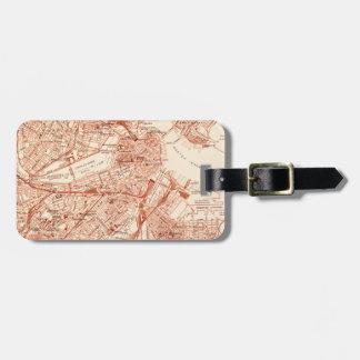 Boston Vintage Map Luggage Tag
