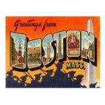 Boston Vintage Travel Postcard Restored