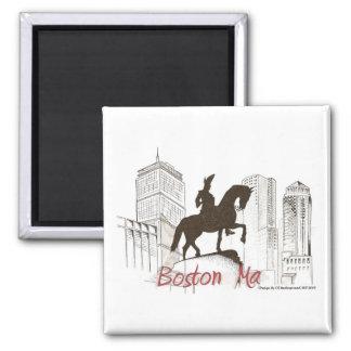 Boston Washington Profile Magnet