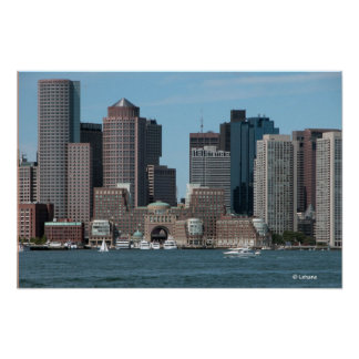 Boston Waterfront Invites Poster