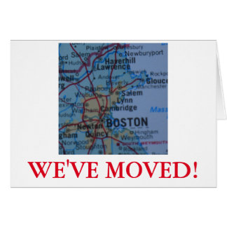 Boston We've Moved address announcement