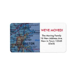 Boston We've Moved label