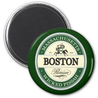 boston - wicked pissah 2 inch round magnet