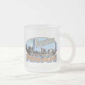 Boston Wicked Pissah Gear by Mudge Studios Frosted Glass Coffee Mug