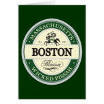 boston - wicked pissah greeting card