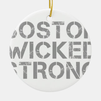 boston-wicked-strong-cap-gray.png ceramic ornament