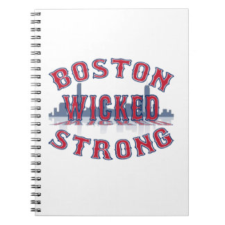 Boston Wicked Strong Spiral Note Books