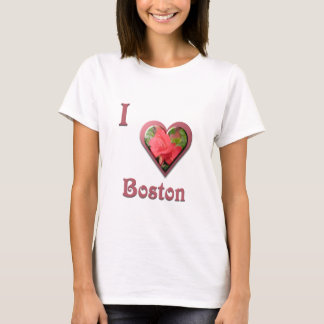 Boston -- with Red Rose T-Shirt
