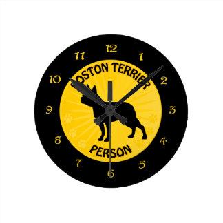Boston Xing Round Clock