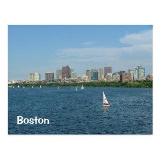 Boston y el río Charles Postales