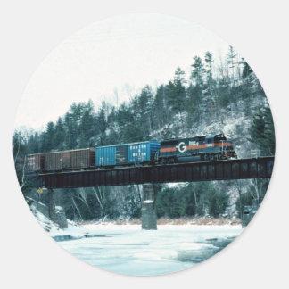 Boston y Maine EMD #305, baño, New Hampshire, los Pegatina Redonda