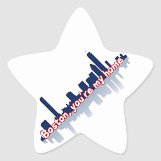 Boston You're My Home Star Sticker