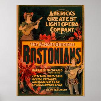 Bostonians America's Greatest Light Opera Poster