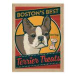 Boston's Best Terrier Treats Postcard
