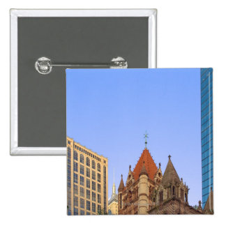 Boston's Copley Square in late afternoon light. 2 Inch Square Button
