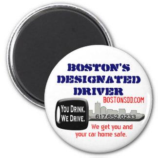 Boston's Designated Driver 2 Inch Round Magnet