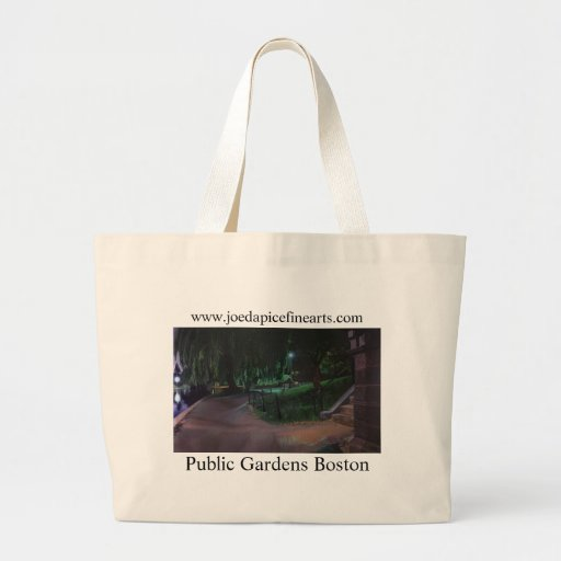Boston's Public Garden Jumbo Tote Bag