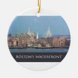 Boston's Scenic Waterfront Ornament