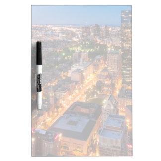 Boston's skyline at dusk Dry-Erase board