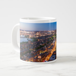 Boston's skyline at dusk giant coffee mug
