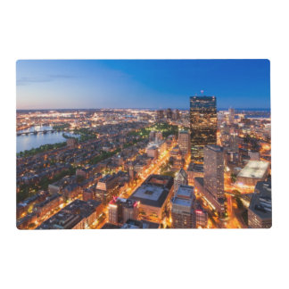 Boston's skyline at dusk placemat