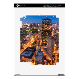 Boston's skyline at dusk iPad 3 skins