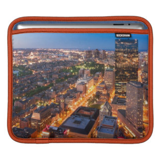Boston's skyline at dusk sleeves for iPads