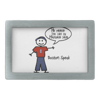 """Bostonspeak """"He Pahked the Cah..."""" He Parked Car.. Belt Buckle"""