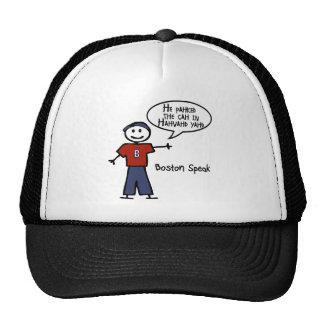 "Bostonspeak ""He Pahked the Cah..."" He Parked Car.. Trucker Hat"