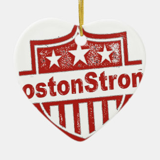 BostonStrongShield.png Adorno Navideño De Cerámica En Forma De Corazón