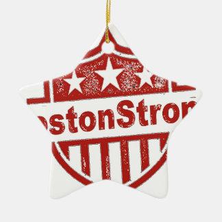 BostonStrongShield.png Adorno Navideño De Cerámica En Forma De Estrella