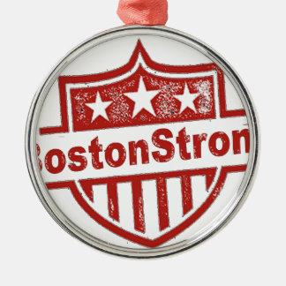 BostonStrongShield.png Adorno Navideño Redondo De Metal