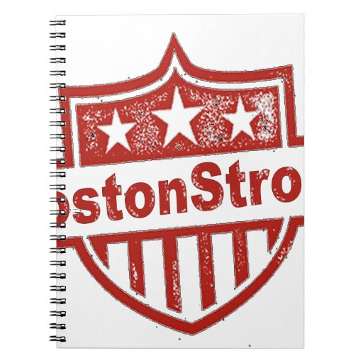 BostonStrongShield.png Spiral Notebook