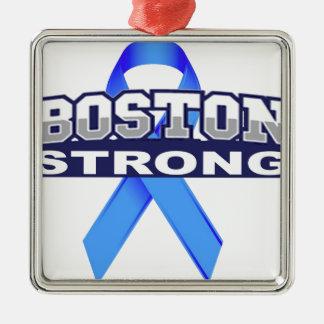 BostonStrongwithRibbon.jpg Adorno Navideño Cuadrado De Metal