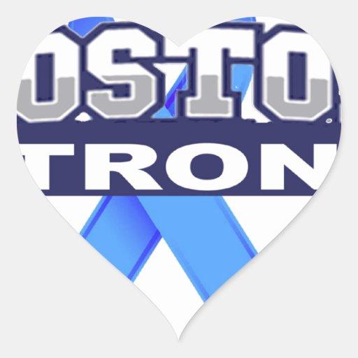 BostonStrongwithRibbon.jpg Pegatina En Forma De Corazón