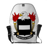 Bostwick Family Crest Courier Bags