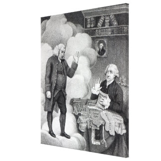 Boswell and the Ghost of Samuel Johnson Canvas Print