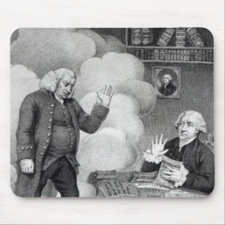 Boswell and the Ghost of Samuel Johnson Mouse Pad