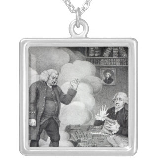 Boswell and the Ghost of Samuel Johnson Silver Plated Necklace