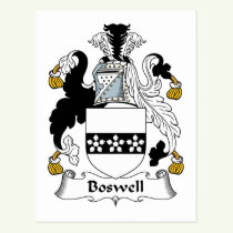 Boswell Family Crest Postcard