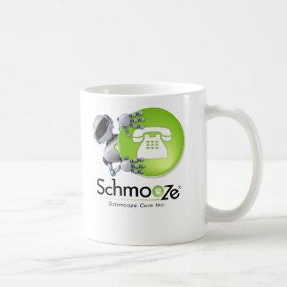 Bot de Schmooze que mira a escondidas de detrás lo Taza De Café