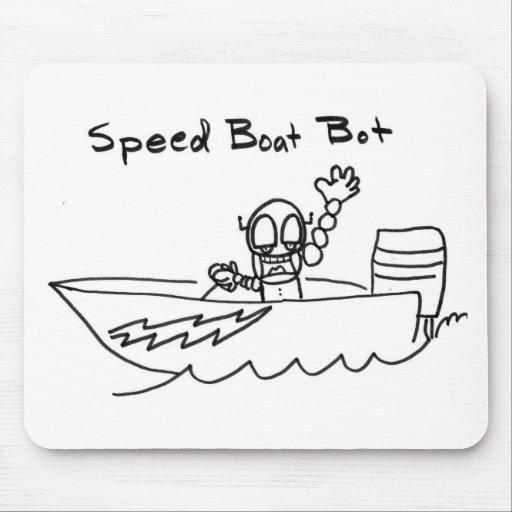 Bot del barco de la velocidad tapete de ratones