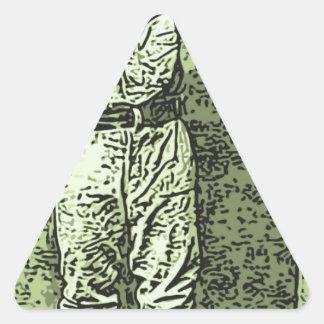Bot del béisbol pegatina triangular